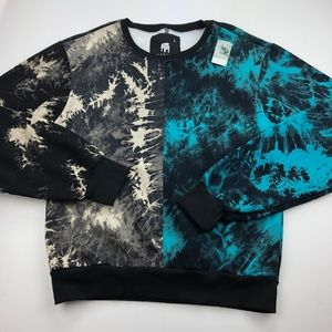 American Stitch Mens Pullover Sweater L Tie Dye